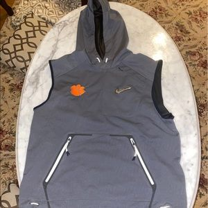 Nw Nike CFP Pregame Vest Clemson Tigers  grey M